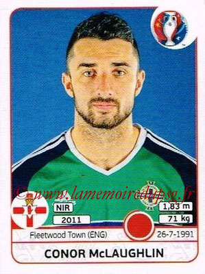 Panini Euro 2016 Stickers - N° 330 - Conor McLAUGHLIN (Irlande du Nord)
