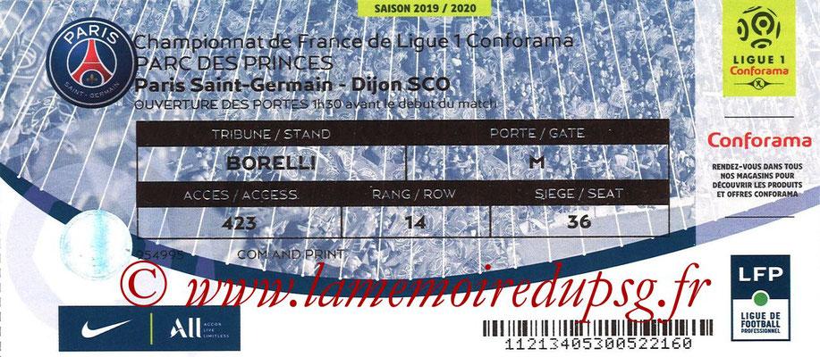 Tickets  PSG-Dijon  2019-20