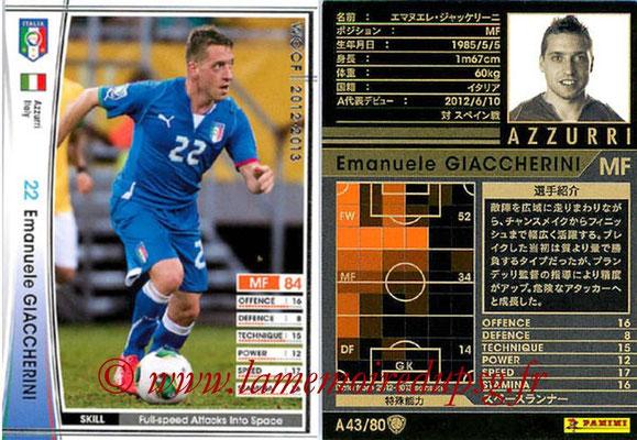 2012-13 - WCCF - N° A43 - Emanuele GIACCHERINI (Italie)