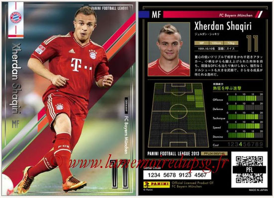 Panini Football League 2013 - PFL04 - N° 093 - Xherdan SHAQIRI (Bayern Munich)
