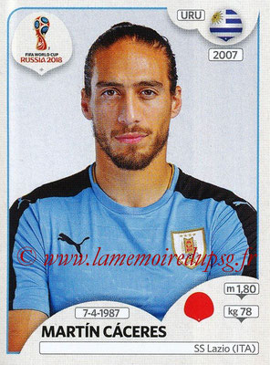 2018 - Panini FIFA World Cup Russia Stickers - N° 097 - Martin CACERES (Uruguay)