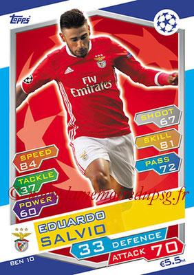 2016-17 - Topps UEFA Champions League Match Attax - N° BEN10 - Edouardo SALVIO (SL Benfica)