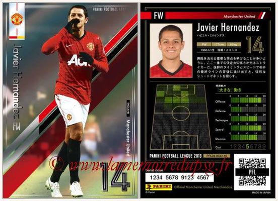 Panini Football League 2013 - PFL04 - N° 063 - Javier HERNANDEZ (Manchester United)