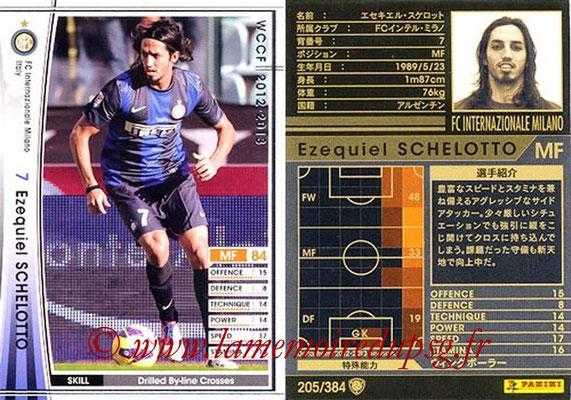 2012-13 - WCCF - N° 205 - Ezequiel SCHELOTTO (Inter Milan)