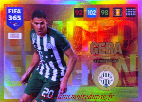 2016-17 - Panini Adrenalyn XL FIFA 365 - N° LE34 - Zoltan GERA (Ferencvarosi TC) (Limited Edition)