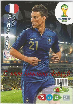 2014 - Panini FIFA World Cup Brazil Adrenalyn XL - N° 160 - Laurent KOSCIELNY (France)