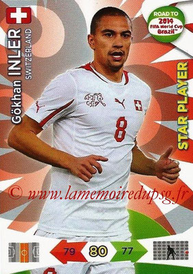 2014 - Panini Road to FIFA World Cup Brazil Adrenalyn XL - N° 178 - Gokhan INLER (Suisse) (Star Player)