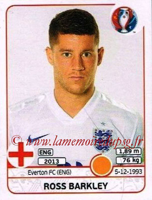 Panini Euro 2016 Stickers - N° 141 - Ross BARKLEY (Angleterre)