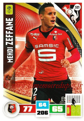 2016-17 - Panini Adrenalyn XL Ligue 1 - N° 321 - Mehdi ZEFFANE (Rennes)