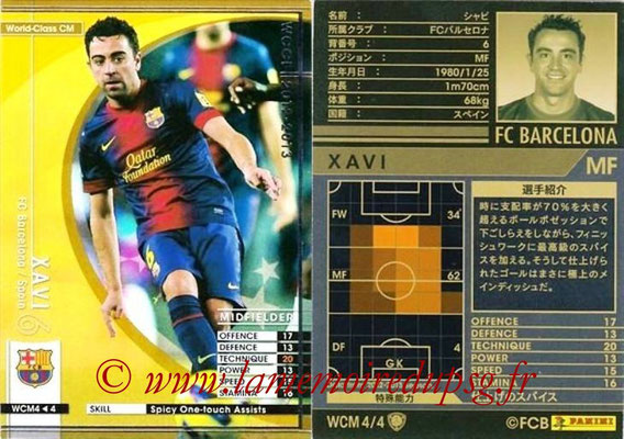2012-13 - WCCF - N° WCM4 - XAVI (FC Barcelone) (World Class CM)