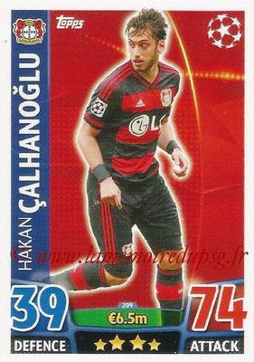 2015-16 - Topps UEFA Champions League Match Attax - N° 209 - Hakan CALHANOGLU (Bayer 04 Leverkusen)