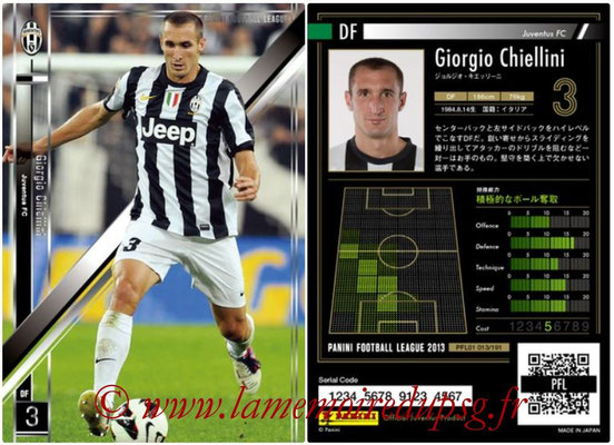Panini Football League 2013 - PFL01 - N° 013 - Giorgio Chiellini ( Juventus FC )