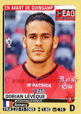 2015-16 - Panini Ligue 1 Stickers - N° 131 - Dorian LEVEQUE (EA Guingamp)