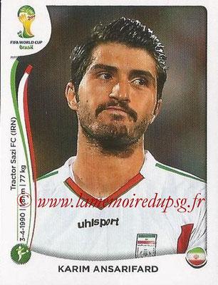 2014 - Panini FIFA World Cup Brazil Stickers - N° 467 - Karim ANSARIFARD (Iran)