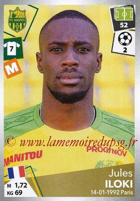 2017-18 - Panini Ligue 1 Stickers - N° 323 - Jules ILOKI (Nantes)