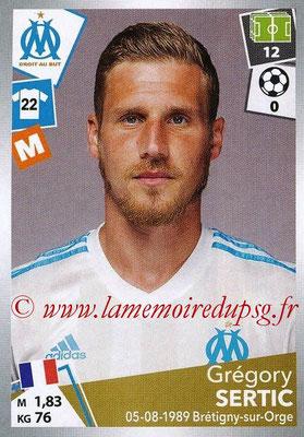 2017-18 - Panini Ligue 1 Stickers - N° 220 - Grégory SERTIC (Marseille)