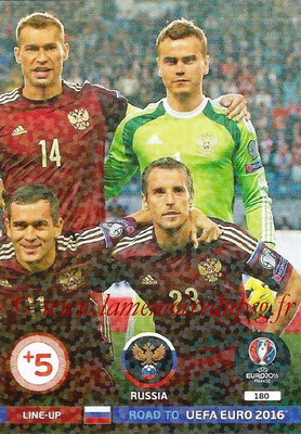 Panini Road to Euro 2016 Cards - N° 180 - Equipe Russie 3