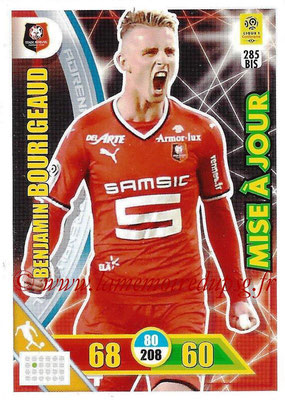 2017-18 - Panini Adrenalyn XL Ligue 1 - N° 285bis - Benjamin BOURIGEAUD (Rennes) (Mise à jour)