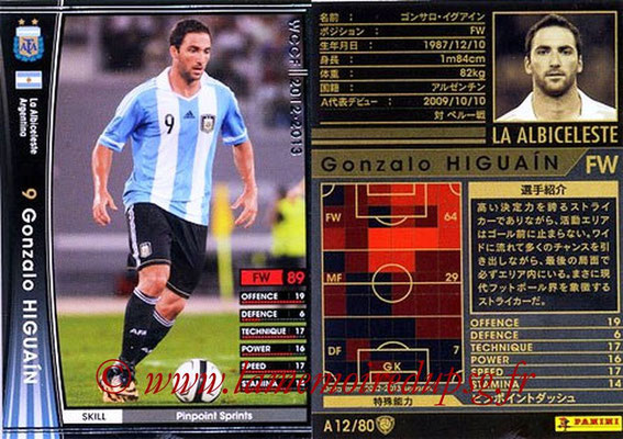 2012-13 - WCCF - N° A12 - Gonzalo HIGUAIN (Argentine)