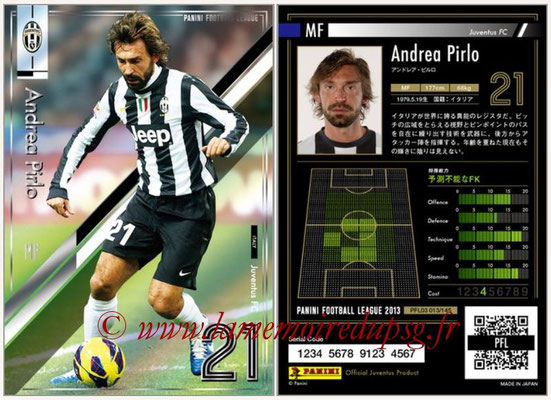 Panini Football League 2013 - PFL03 - N° 013 - Andrea Pirlo (Juventus FC)