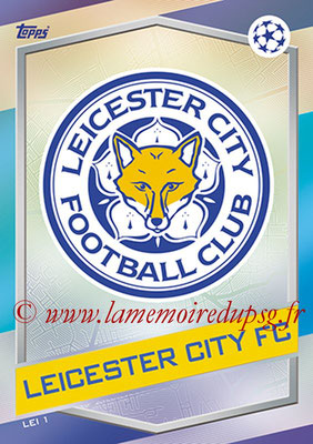 2016-17 - Topps UEFA Champions League Match Attax - N° LEI1 - Logo Leicester City FC