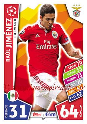 2017-18 - Topps UEFA Champions League Match Attax - N° 214 - Raul JIMENEZ (SL Benfica)