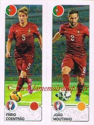 Panini Euro 2016 Stickers - N° 600 - Fabio COENTRAO + Joao MOUTINHO (Portugal)