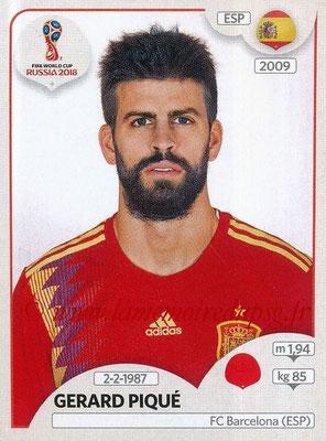 2018 - Panini FIFA World Cup Russia Stickers - N° 138 - Gerard PIQUE (Espagne)