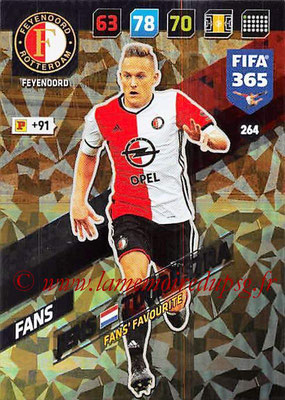 2017-18 - Panini FIFA 365 Cards - N° 264 - Jens TOORNSTRA (Feyenoord ) (Fans' Favourite)