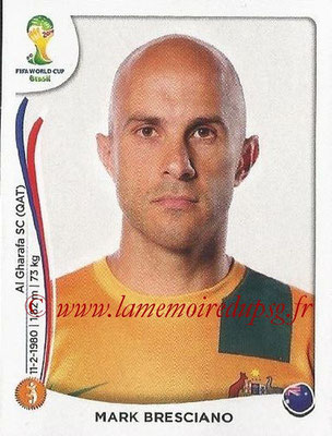 2014 - Panini FIFA World Cup Brazil Stickers - N° 176 - Mark BRESCIANO (Australie)