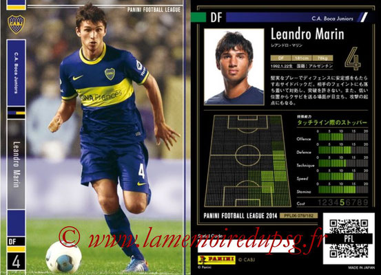 Panini Football League 2014 - PFL06 - N° 078 - Leandro MARIN (CA Boca Juniors)
