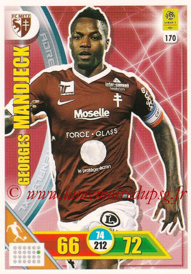 2017-18 - Panini Adrenalyn XL Ligue 1 - N° 170 - Georges  MANDJECK (Metz)