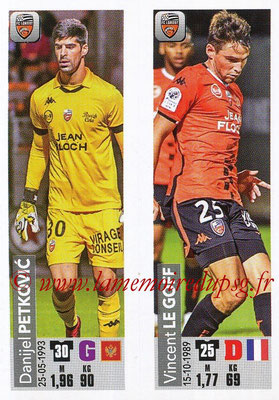 2018-19 - Panini Ligue 1 Stickers - N° 538 - Danijel PETKOVIC + Vincent LE GOFF (FC Lorient)