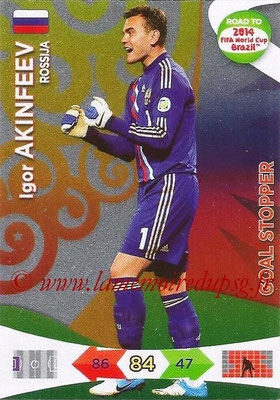 2014 - Panini Road to FIFA World Cup Brazil Adrenalyn XL - N° 217 - Igor AKINFEEV (Russie) (Goal Stopper)
