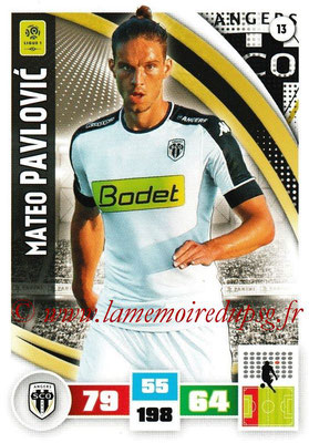 2016-17 - Panini Adrenalyn XL Ligue 1 - N° 013 - Mateo PAVLOVIC (Angers)