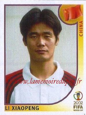 2002 - Panini FIFA World Cup Stickers - N° 216 - Li XIAOPENG (Chine)
