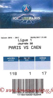 Tickets  PSG-Caen  2016-17