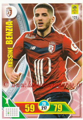 2017-18 - Panini Adrenalyn XL Ligue 1 - N° 125 - Yassine BENZIA (Lille)