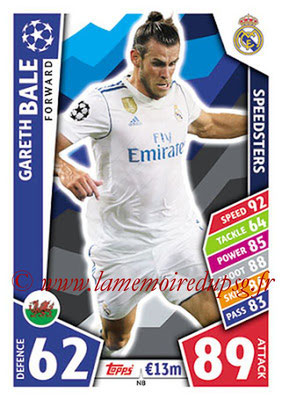 2017-18 - Topps UEFA Champions League Match Attax - N° N08 - Gareth BALE (Real Madrid CF) (Speedster) (Nordic Edition)