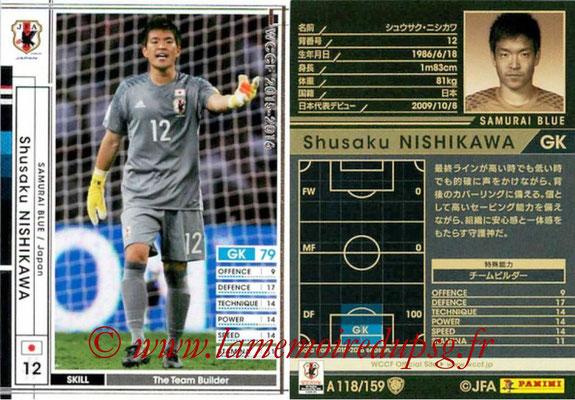 2015-16 - Panini WCCF - N° A118 - Shusaku NISHIKAWA (Japon)