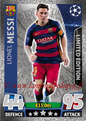 2015-16 - Topps UEFA Champions League Match Attax - N° LE2 - Lionel MESSI (FC Barcelone) (Limited Edition Silver)