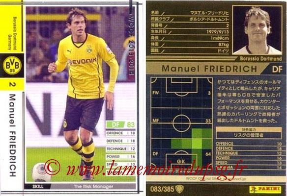 2013-14 - WCCF - N° 083 - Manuel FRIEDRICH (Borussia Dortmund)
