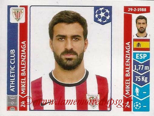 2014-15 - Panini Champions League N° 601 - Mikel BALENZIAGA (Athletic Club Bilbao)