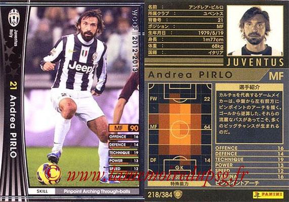 2012-13 - WCCF - N° 218 - Andrea PIRLO (Juventus FC)