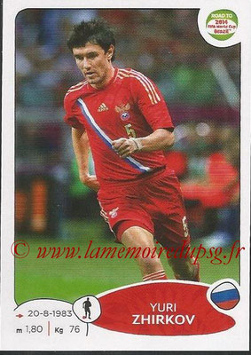2014 - Panini Road to FIFA World Cup Brazil Stickers - N° 330 - Yuri ZHIRKOV (Russie)
