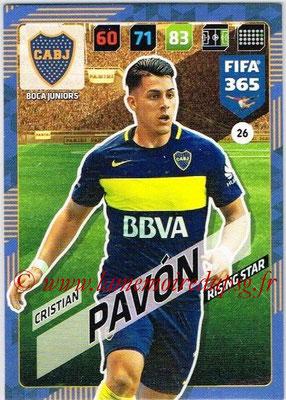 2017-18 - Panini FIFA 365 Cards - N° 026 - Cristian PAVON (Boca Juniors) (Rising Star)