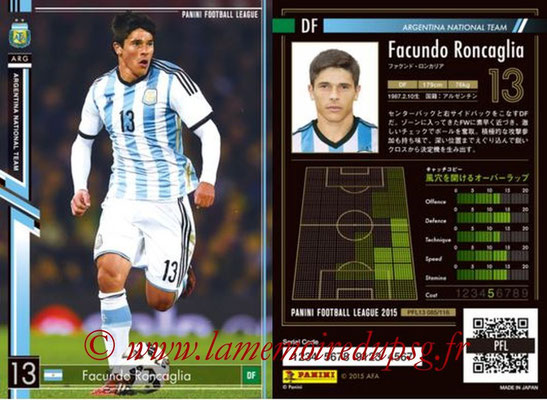 Panini Football League 2015 - PFL13 - N° 085 - Facundo RONCAGLIA (Argentine)