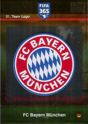 2015-16 - Panini Adrenalyn XL FIFA 365 - N° 031 - Ecusson FC Bayern Munich (Team Logo)