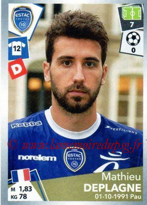 2017-18 - Panini Ligue 1 Stickers - N° 497 - Mathieu DEPLAGNE (Troyes)