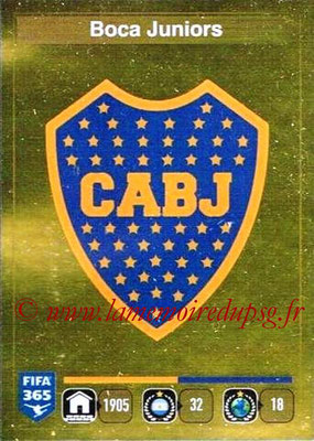 2015-16 - Panini FIFA 365 Stickers - N° 071 - Ecusson CA Boca Juniors